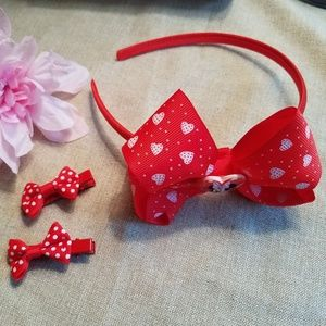 Other - NEW!  Minnie Mouse Headband and Barrette Set - Red